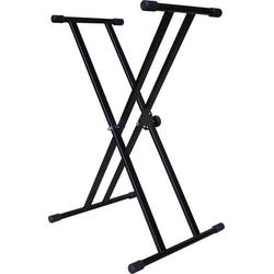 MSA Musikinstrumente KS 2 Keyboardständer Schwarz doppelstrebig