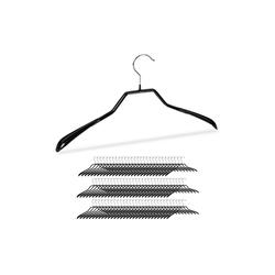 relaxdays Kleiderbügel 90 x Anzug Kleiderbügel schwarz