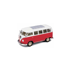 Welly Modellauto Welly VW Bus '62, rot 1:24