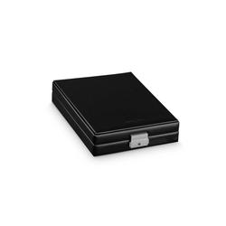 Hermann Jäckle Uhrenbox Bretten Sammler Box für 6 Taschenuhren schwarz, Made in Germany