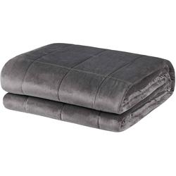 Bett, Woltu, Gewichtete Decke 200 x 230 cm, 13 kg, Grau