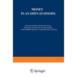 Money in an Open Economy als Buch von M. W. Holtrop