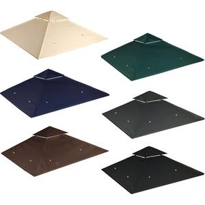 freigarten.de Ersatzdach für Pavillon 3x3 Meter Sand Antik Pavillon Wasserdicht Material: Panama PCV Soft 370g/m2 extra stark Modell 6 (Schwarz)