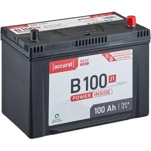 Accurat Basic Asia B100 J1 Autobatterie 100Ah