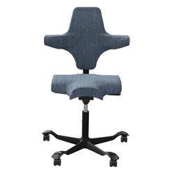 HAG CAPISCO 8106 Bürostuhl mit Sattelsitz Stoff Remix blau