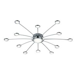 Trio Leuchten LED-Deckenleuchte Bodrum in chromfarbig
