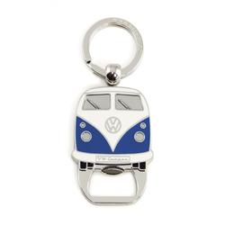 VW Bulli T1 Schlüsselanhänger mit Flaschenöffner blau