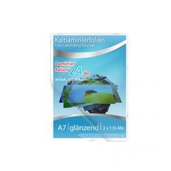 Kaltlaminierfolien A7, 2 x 150 Mic, glänzend (86 x 117 mm)