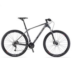 SAVA Mountainbike SAVA DECK2.0 Carbon Mountainbike MTB SHIMANO ALTUS M2000, 27 Gang grau 43 cm