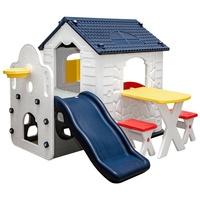 LittleTom Kinder Spielhaus mit Rutsche weiß