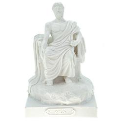 Kremers Schatzkiste Dekofigur Alabaster Deko Figur Zeus Göttervater 14 cm