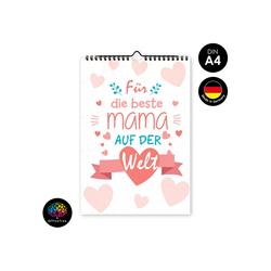 OfficeTree Kalender zum Selbstbasteln Bastelkalender Mama, Kalender DIY in DIN A4