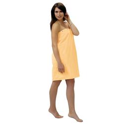 Sarong, Lashuma, - das hochwertige Sauna Zubehör für Damen gelb