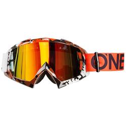 O'Neal Crossbrille B-10 Pixel Orange/Weiß - Radium Anti-Fog