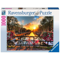 Ravensburger Puzzle 19606 Fahrräder in Amsterdam 1000 Teile Puzzle, Puzzleteile