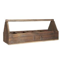 Ib Laursen Holzkiste Ib Laursen - Holzkorb Holzkiste mit 5 Fächer und Henkel 5238-14 Korb Kiste Holz