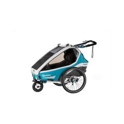 Qeridoo Fahrradkindersitz Kidgoo2 Sport 2020 Grau blau