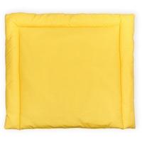 KraftKids Wickelauflage weiße Punkte auf Gelb, Wickelunterlage 85x75 cm (BxT), Wickelkissen