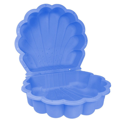 ONDIS24 Sandkasten Sandkasten Wassermuschel 2-TLG ca. 80 x 87 x 19 cm blau