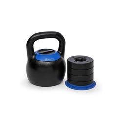 KLARFIT Kettlebell Adjustabell Verstellbare Kettlebell 16/18/20/22/24 kg schwarz / blau, 24 kg