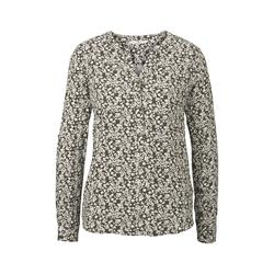 TOM TAILOR Damen Bluse mit Blumenmuster, grün, gemustert, Gr.46