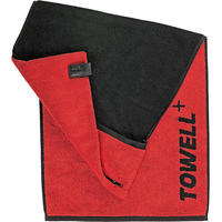 Stryve Towell+ Sporthandtuch (40x90cm) rot/schwarz