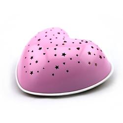 Nachtlicht Solar Heart rosa