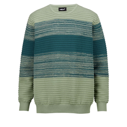 Pullover Men Plus Mintgrün/Blau