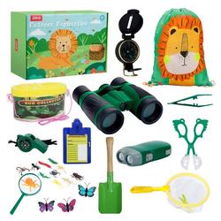 LBLA Lernspielzeug (27-St., Spielzeug ab 3 Jahre Junge Mädchen, Kinder Forscherset Fernglas Spielzeug Draussen), 27 Stück Outdoor Exploration Kinder Spielzeug