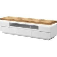 MCA Furniture Romina TV-Lowboard 175 cm  5 Schubkästen weiß matt/Wildeiche