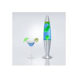 Licht-Erlebnisse Lavalampe JENNY Lavalampe Blau Gelb retro inklusive Leuchtmittel 42cm Lampe