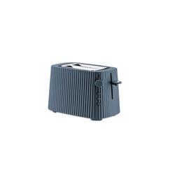 Alessi Toaster Toaster Plissé - Farbwahl, Europäischer Stecker, Elektrische Leistung 850 Watt grau