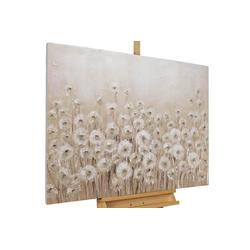 KUNSTLOFT Gemälde Dandelion, handgemaltes Bild auf Leinwand