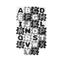BIECO Steckpuzzle Bieco Puzzlematte, 52 tlg. Spielmatte Baby XXL Puzzle Kinder Krabbeldecke Baby Spielmatte Kinder Turnmatte Kinder Kinder Teppiche Krabbelmatte Baby Buchstaben Lernen Spielteppich Junge, Puzzleteile