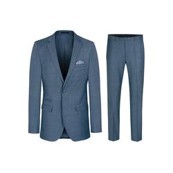 Paul Malone Anzug Herrenanzug modern slim fit Herren Anzug - AMF-Naht (2-tlg) blau grau HA44 98