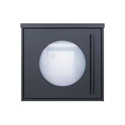 MOCAVI Briefkasten MOCAVI Box 105W Design-Briefkasten anthrazit-grau (RAL 7016) mit Sichtfenster