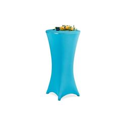Stehtischhusse Stehtischhusse 60-65 cm, relaxdays blau