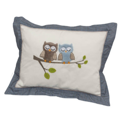 Be Be 's Collection Kuschelkissen Eulen blau
