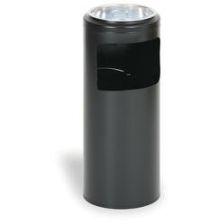 Außenaschenbecher aus metall 10 liter, schwarz