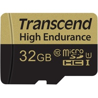 Transcend microSDHC High Endurance 32GB Class 10 + SD-Adapter