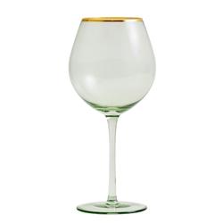 Nordal Greena Weinglas mit Goldenem Detail