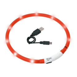 KARLIE Visio Light LED-Leuchthalsband für Hunde 70 cm rot