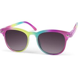 styleBREAKER Sonnenbrille Kinder Nerd Sonnenbrille in Regenbogen Farben Getönt rosa