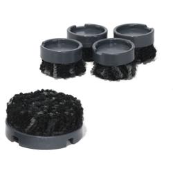scratchnomore FootClick Stuhlgleiter für Hartböden, Ersatzgleiter für alle Footfixx-Produkte, 1 Packung = 4 Stück, Ø 25 mm