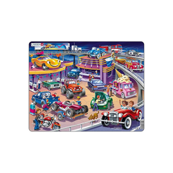 Larsen Puzzle Rahmen-Puzzle, 58 Teile, 36x28 cm, Autos, Puzzleteile