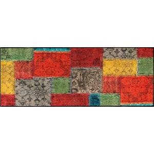 Läufer Vintage Patches, wash+dry by Kleen-Tex, rechteckig, Höhe 7 mm bunt 75 cm x 190 cm x 7 mm