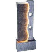 Dehner Gartenbrunnen Eclipse mit LED 100 x 40 x 19.8 cm, Polyresin,