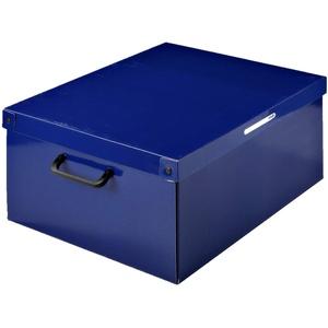 Aufbewahrungsbox aus Karton, groß, 1 Einheit, Modell BLAU