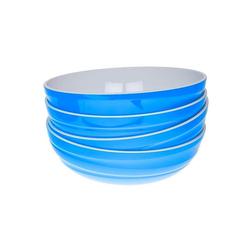 Genius Schüssel Genius - Design Servierschüssel Salatschüssel Schüssel Set 4-tlg blau 26100