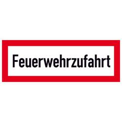 Hinweisschild Feuerwehrzufahrt Aluminium (B x H) 297mm x 105mm 1St.